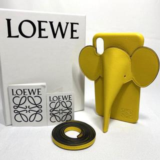 ロエベ(LOEWE)のロエベ iPhone XS MAX 用 エレファント フォンカバー イエロー(iPhoneケース)