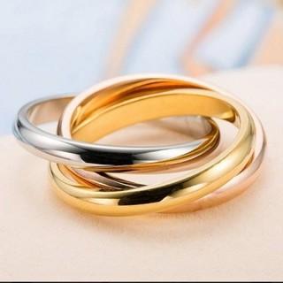 新品未使用 ステンレス マルチカラーリング アメリカンサイズ7号(リング(指輪))