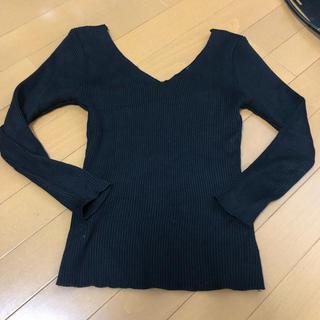 アリシアスタン(ALEXIA STAM)のjuemi♡両Vネックリブニット(ニット/セーター)
