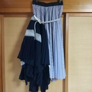 サカイ(sacai)のsacai プリーツスカート(ロングスカート)