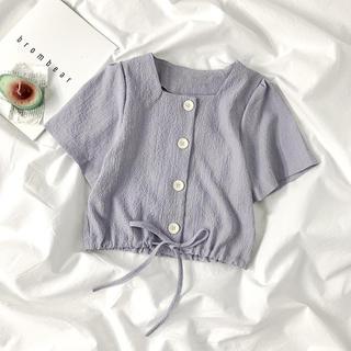 シャツ ブラウス 韓国(シャツ/ブラウス(半袖/袖なし))