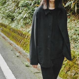 コモリ(COMOLI)のcomoli  コモリ モールスキンジャケット BLACK Size3(カバーオール)