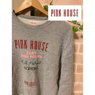 ピンクハウス(PINK HOUSE)の【入手困難90s!好デザイン!】PINK HOUSE スウェット デカロゴ(トレーナー/スウェット)