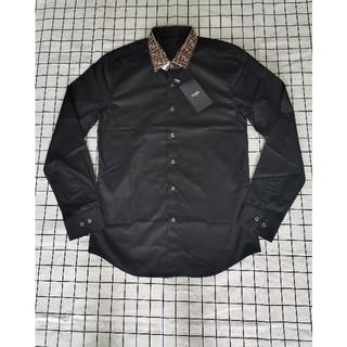 フェンディ(FENDI)のFendiフェンデイ シャツ メンズ ブラック(シャツ)