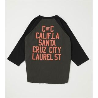 ロデオクラウンズワイドボウル(RODEO CROWNS WIDE BOWL)の新品 M ロデオ LAUREL STラグランルーズトップス ブラック(Tシャツ/カットソー(七分/長袖))