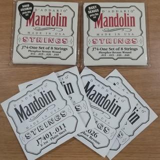 DADDARIO マンドリン弦  J74 旧パッケージ2セット おまけ付き(マンドリン)
