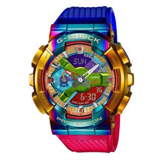 ジーショック(G-SHOCK)のGM-110RB-2AJF レインボーIPベゼル マルチカラー国内正規品 (腕時計(デジタル))