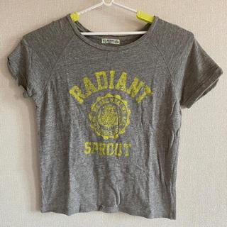 ビームス(BEAMS)のビームスハート トップス 綿 半袖 カットソー Tシャツ ロゴ 大人 夏 グレー(Tシャツ(半袖/袖なし))