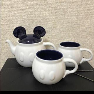 Disney - simple Disney ティーセット(ポット、カップ)3点