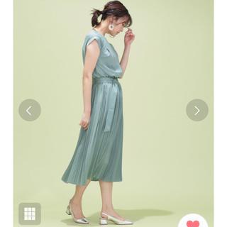 ナノユニバース(nano・universe)のナノユニバース ドレス グリーン(ミディアムドレス)