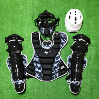 ミズノ(MIZUNO)の☆新品未使用☆ 一般軟式野球用 キャッチャー マスク プロテクター レガース (防具)