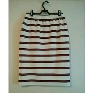 ウィゴー(WEGO)のウィゴー★赤&白ボーダー★スカート★(ひざ丈スカート)