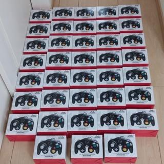 ニンテンドーゲームキューブ(ニンテンドーゲームキューブ)の【任天堂純正品】ゲームキューブ コントローラー スマブラブラック 38個セット(その他)