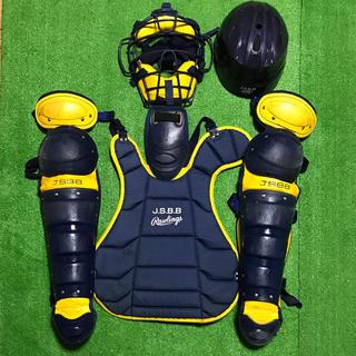 ローリングス(Rawlings)の一般軟式野球 キャッチャー マスク プロテクター レガース 防具セット(防具)