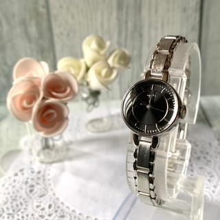 アガット(agete)の【希少】agete アガット 腕時計 ブラック シルバー ラウンド(腕時計)
