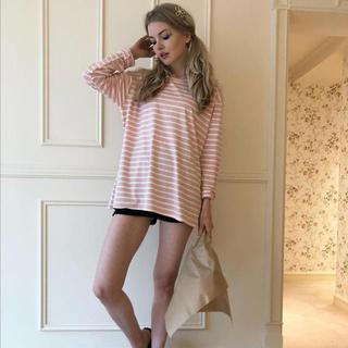 ハニーミーハニー(Honey mi Honey)のepine ボーダーTシャツ(Tシャツ(長袖/七分))
