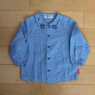 ミキハウス(mikihouse)の【新品】ミキハウス☆ギンガムチェックシャツ(90)レトロ(ブラウス)