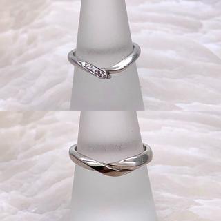ニワカ(俄)の★俄★ 初桜 ういざくら ダイヤモンド ペアリング PT950(リング(指輪))