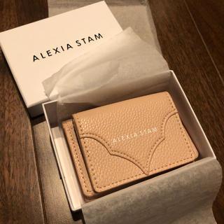 アリシアスタン(ALEXIA STAM)のALEXIA STAM 新品LOGO mini wallet pink(財布)