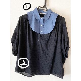 フェリシモ(FELISSIMO)の未使用 つけ襟 ブラウス セット フェリシモ(シャツ/ブラウス(半袖/袖なし))