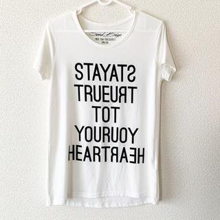 使用済み レディース 白 カーキ Tシャツ (Tシャツ(半袖/袖なし))