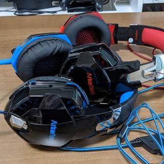 G2000 ゲーミング ヘッドセット ヘッドホン 2個セット(ヘッドフォン/イヤフォン)