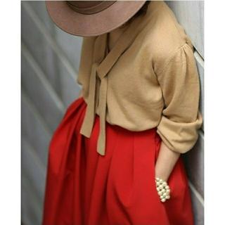 TSURU by Mariko Oikawa - シートーキョーshetokyoのannaマッドな赤スカート