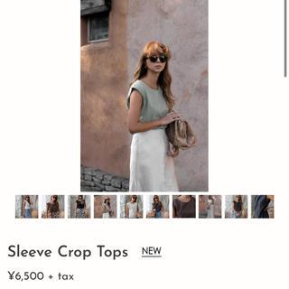ルームサンマルロクコンテンポラリー(room306 CONTEMPORARY)のroom306 sleeve crops tops KHAKI💚(タンクトップ)