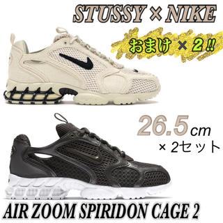 ナイキ(NIKE)のおまけ×2❗️【STUSSY×NIKE】SPIRIDON CAGED2×新品2足(スニーカー)