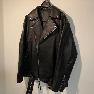 マウジー(moussy)の極上本革 ライダースジャケット    オーバーサイズ dude9(ライダースジャケット)