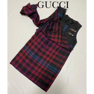 グッチ(Gucci)のGUCCI お洒落なストール ワンピース チュニック(ミニワンピース)