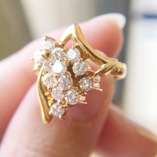 k18リング ダイヤモンド 天然ダイヤモンド 1カラット(リング(指輪))