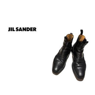 ジルサンダー(Jil Sander)のJIL SANDER ウィングチップ サイドゴア レザーブーツ / ジルサンダー(ブーツ)