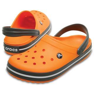 クロックス(crocs)の25cm クロックス クロックバンド クロッグ オレンジ(サンダル)