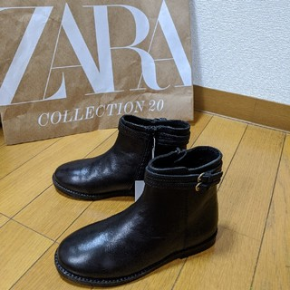 ザラキッズ(ZARA KIDS)のZaraKids 本革ショートブーツ 19cm(ブーツ)