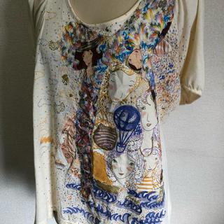 ツモリチサト(TSUMORI CHISATO)のtsumori chisato ガールイラストTシャツ(Tシャツ(半袖/袖なし))