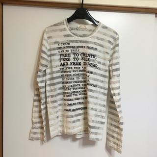 コムデギャルソン(COMME des GARCONS)のCOMMEdesGARCONS メッセージ長袖Tシャツ(Tシャツ(長袖/七分))