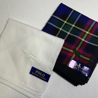 ポロラルフローレン(POLO RALPH LAUREN)のポロラルフローレン ハンカチ 2枚セット(ハンカチ/ポケットチーフ)