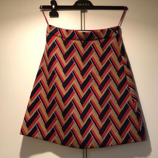 グッチ(Gucci)のGUCCI tweed midnight length skirt(ひざ丈スカート)