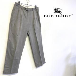 バーバリー(BURBERRY)の美品 BURBERRY LONDON スラックス グレー系 三陽商会(スラックス)