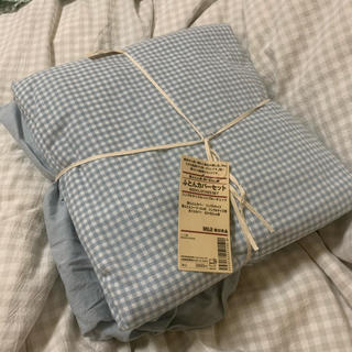 ムジルシリョウヒン(MUJI (無印良品))の無印良品 布団カバー(枕カバー無し)(布団)