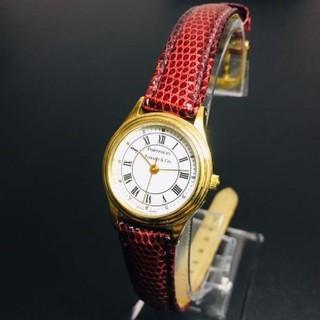 ティファニー(Tiffany & Co.)の【美品 正規品】ティファニー 腕時計 ローマン ゴールド アトラス ラウンド(腕時計)
