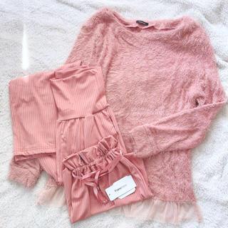 Francfranc - ①【ピンク】巾着付き♫フランフランFrancfrancフェザータッチパジャマ