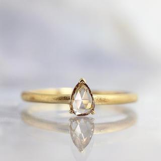 メイジュエリー 天然ブラウンダイヤモンド ペアシェイプローズカットリング 107(リング(指輪))