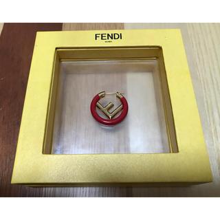 フェンディ(FENDI)のFENDI  エフイズフェンディ シングルピアス RED(ピアス)