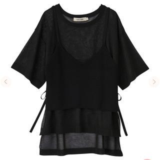 ココディール(COCO DEAL)のシアーニットT×ビスチェセット(Tシャツ(半袖/袖なし))