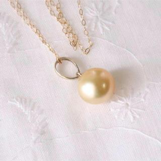ゴールデンパール ネックレス k10&シルバー(ネックレス)
