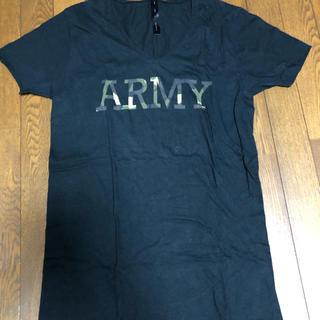 ダブルジェーケー(wjk)のwjk Tシャツ Vネック Lサイズ 黒(Tシャツ/カットソー(半袖/袖なし))