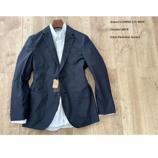 コムサメン(COMME CA MEN)のCOMME CA MEN ナイロンタフジャケット ネイビー Sサイズ(テーラードジャケット)
