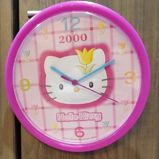 ハローキティ(ハローキティ)の☆新品☆ハローキティ 壁掛け時計(掛時計/柱時計)